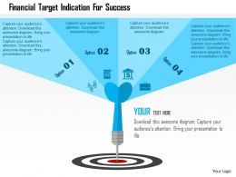Financial Target Indication For Success Flat Powerpoint Design