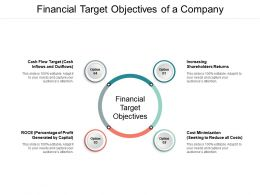 Financial Target Objectives Of A Company