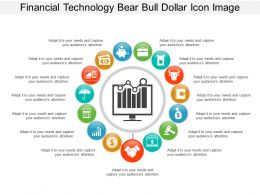 Financial Technology Bear Bull Dollar Icon Image