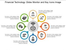 Financial Technology Globe Monitor And Key Icons Image