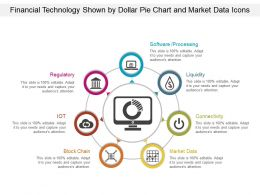 Financial Technology Shown By Dollar Pie Chart And Market Data Icons