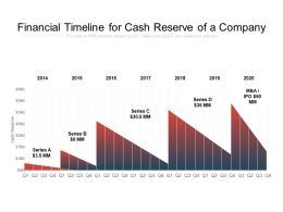 Financial Timeline For Cash Reserve Of A Company