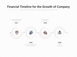 Financial Timeline For The Growth Of Company