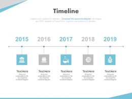 Financial Timeline with Year Based Analysis Powerpoint Slides