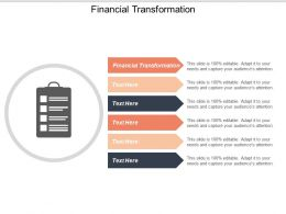 Financial Transformation Ppt Powerpoint Presentation Styles Slides Cpb