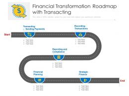 Financial Transformation Roadmap With Transacting