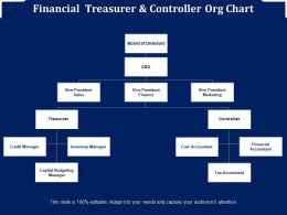 Financial Treasurer And Controller Org Chart
