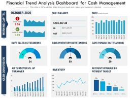 Financial Trend Analysis Dashboard For Cash Management