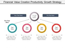 Financial Value Creation Productivity Growth Strategy