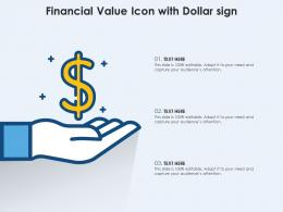 Financial Value Icon With Dollar Sign