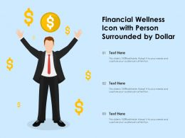 Financial Wellness Icon With Person Surrounded By Dollar