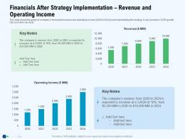 Financials After Strategy Implementation Revenue And Operating Income Increase Ppt Tips