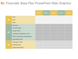 Financials Base Plan Powerpoint Slide Graphics