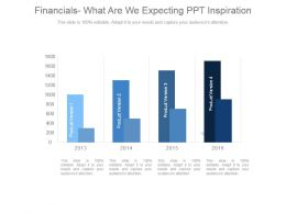 Financials Expectations For Our Company Ppt Inspiration