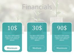 Financials Management Ppt Powerpoint Presentation Infographics Diagrams