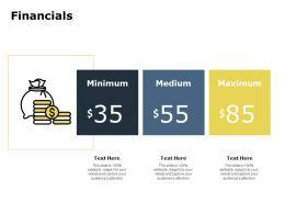 Financials Maximum Medium C116 Ppt Powerpoint Presentation Visuals