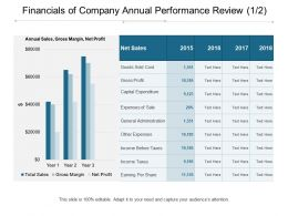 Financials Of Company Annual Performance Review 1 2