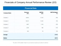 Financials Of Company Annual Performance Review 2 2