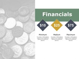 Financials Ppt Powerpoint Presentation File Infographic Template