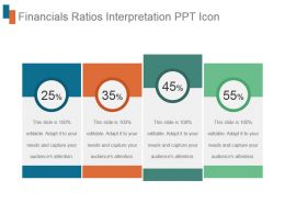 Financials Ratios Interpretation Ppt Icon