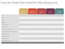 Financials Stretch Plan Powerpoint Slide Backgrounds