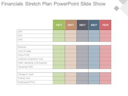 Financials Stretch Plan Powerpoint Slide Show