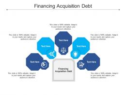 Financing Acquisition Debt Ppt Powerpoint Presentation Styles Shapes Cpb