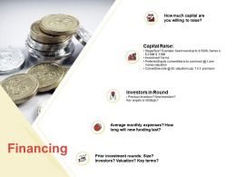Financing Capital Raise Ppt Powerpoint Presentation Styles Outfit