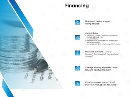 Financing Capital Raise Ppt Powerpoint Presentation Visual Aids Outline