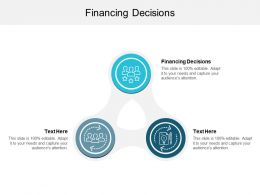 Financing Decisions Ppt Powerpoint Presentation File Grid Cpb
