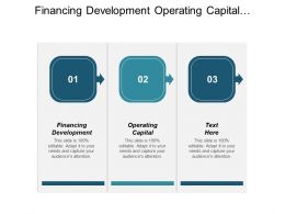Financing Development Operating Capital Investments Banking Capital Expenditure Cpb