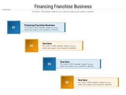 Financing Franchise Business Ppt Powerpoint Presentation Show Inspiration Cpb