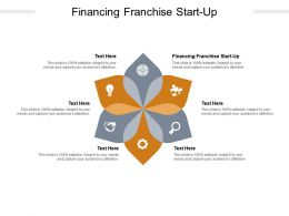 Financing Franchise Start Up Ppt Powerpoint Presentation Cpb