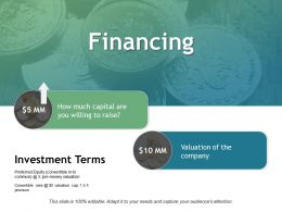 Financing Investment Ppt Powerpoint Presentation Show Ideas