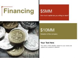 Financing Ppt Powerpoint Presentation File Model