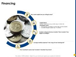 Financing Previous Investors Ppt Powerpoint Presentation Infographics Example Topics
