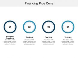 Financing Pros Cons Ppt Powerpoint Presentation File Gridlines Cpb