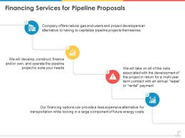 Financing Services For Pipeline Proposals Ppt Powerpoint Presentation Styles Graphics