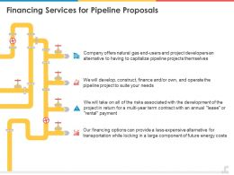Financing Services For Pipeline Proposals Slide Ppt Presentation Styles Design Ideas
