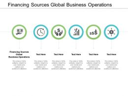 Financing Sources Global Business Operations Ppt Powerpoint Presentation Infographic Template Rules Cpb