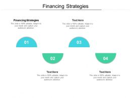 Financing Strategies Ppt Powerpoint Presentation Infographics Cpb