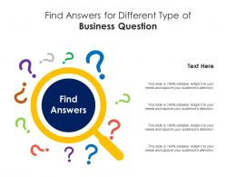 Find Answer For Different Type Of Business Question Infographic Template