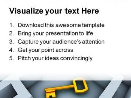 Find Key Business PowerPoint Template 1110