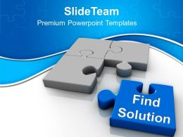 Find The Solution Business Concept PowerPoint Templates PPT Themes And Graphics 0313