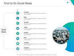 Find Us On Social Media Business Outline Ppt Designs