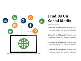 Find Us On Social Media Powerpoint Slide Backgrounds