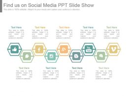 Find Us On Social Media Ppt Slide Show