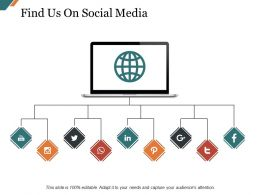 Find Us On Social Media Sample Presentation Ppt