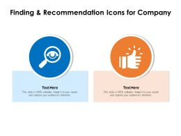 Finding And Recommendation Icons For Company