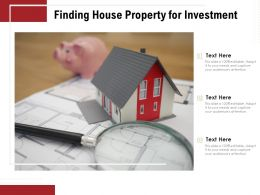 Finding House Property For Investment